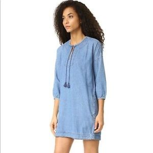 Madewell chambray dress with pockets